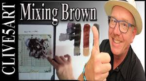 color mixing mixing brown from from the primary colors youtube