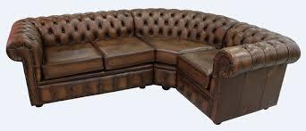 Corner Chesterfield Sofa Corner Sofa 2 Seater Corner 1 Seater Antique Leather