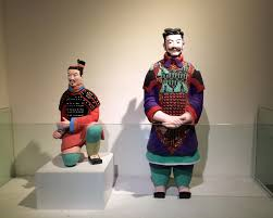 file recreated colored terracotta warriors jpg wikimedia commons