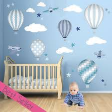 Dr Seuss Nursery Wall Decals by Air Balloon U0026 Jets Wall Stickers Blue And Grey Character