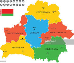 map of belarus detailed vector map of belarus vector getty images