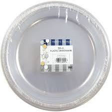 clear plastic plates k signature collection 50 count plastic plate 10