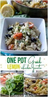 one pot greek pasta recipe with lemon u0026 chicken