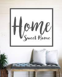 home sign decor home sweet home farmhouse sign rustic wall decor u2013 walls of wisdom