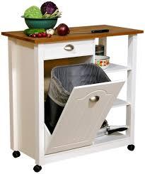 drop leaf kitchen island mobile trash bin w shelf pantry buy
