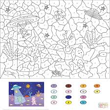 pizza color by number free printable coloring pages
