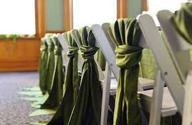 Cheap Chair Sashes Best Sale Easy To Decorate Dark Green Satin Chair Sashes For