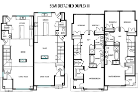 single storey semi detached house floor plan edmonton duplexes or semi detached homes blueprints