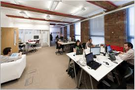 modern interior photo creative office design ideas decor interiors peaceful and creative office space idea with white tables exposed brick wall lounge corporate office