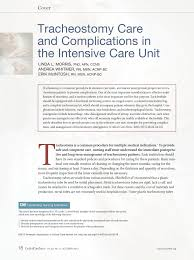 tracheostomy care and complications in the intensive care unit