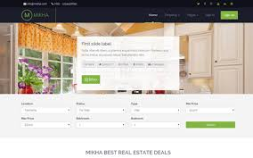 mikha responsive real estate theme other bootstrap templates