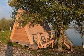 wooden tent wooden gling tent by the lake picture of c zagreb rakitje
