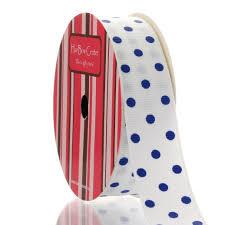 polka dot grosgrain ribbon 7 8 white royal blue dot grosgrain ribbon