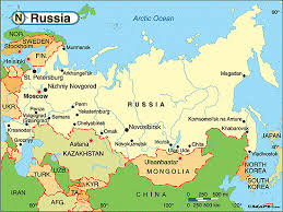 russia in maps political map of russia map pictures