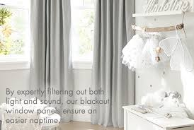 White And Grey Nursery Curtains And Nursery Curtains Window Treatments Pottery Barn