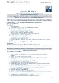 Example Of Accountant Resume by Resume Of Accounts Officer