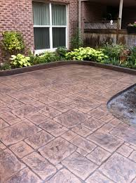 Seamless Stamped Concrete Pictures by English Yorkstone Stamped Concrete Patio With Stone Block Stamped