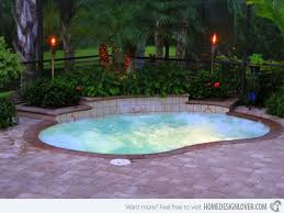 Small Backyard Pool by Small Backyard Inground Pool Design 17 Best Ideas About Small