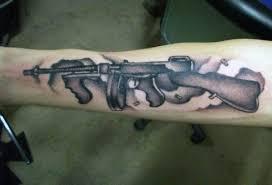 50 gun tattoos for men explosive bullet design ideas