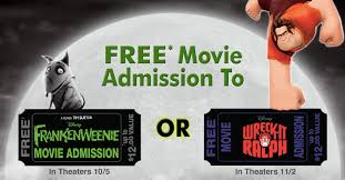 disney movie rewards free ticket frankenweenie wreck
