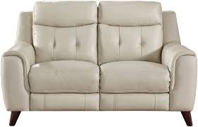Cream Leather Club Chair Paramount Cream Leather Power Reclining Loveseat With Power