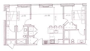 2 Bed 2 Bath Floor Plans by Floor Plans The Pepper Building Apartments The Bozzuto Group