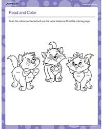 read and color printable reading worksheets jumpstart