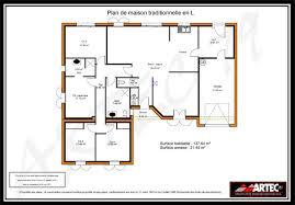 surface chambre exceptionnel plan maison 100m2 3 chambres 0 plain de 110m2