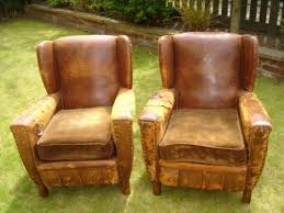 Leather Armchairs Vintage Pair Vintage Distressed Leather Club Armchairs 125473