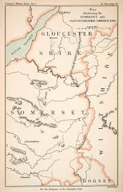 Somerset England Map Maps Page 2 Period Paper