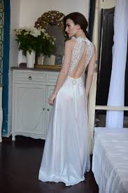 Nightgowns For Brides Long Lace Bridal Nightgown With Open Back F5lingerie By Alingerie