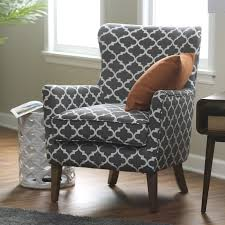 Grey Patterned Accent Chair Belham Living Palmer Printed Arm Chair Hayneedle
