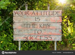 quote garden success your attitude is the key to success motivational quote written on