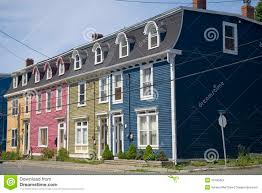 row houses st john u0027s newfoundland stock images image 10190424