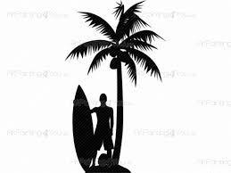 surfer palm tree wall decals vdd1024en artpainting4you eu surfer palm tree sport wall decals