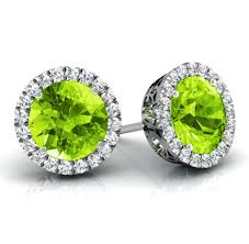 peridot stud earrings debebians jewelry best push gifts to celebrate august