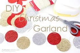easy diy christmas garland 5 minutes for mom