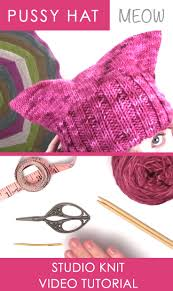 how to knit a hat studio knit