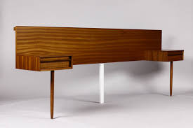 Floating Headboard With Nightstands by Danish Modern Mid Century Teak Headboard Floating Nightstand