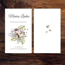 wedding planner business business card of wedding planner vector free