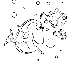 Finding Nemo Coloring Pages Dory Marlin Nemo Coloringstar Nemo Color Pages