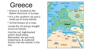 Greece On Map Greece Greece Is Located On The Balkan Peninsula In Europe It Is