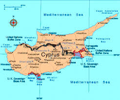 map of cyprus map of cyprus showing the areas occupation