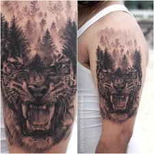 ferocious tiger by bhanushali at aliens india