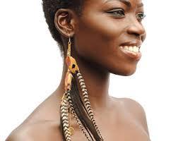 one feather earring single earrings etsy