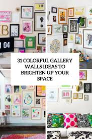 31 gallery walls suggestions with coloful frames decor10 blog