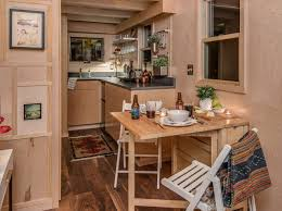 tiny home dining table the riverside by new frontier tiny homes