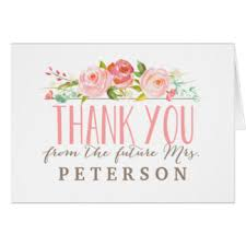 bridal shower thank you cards bridal shower thank you greeting cards zazzle