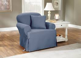 Armchair Slipcovers Sure Fit Cotton Duck T Cushion Armchair Slipcover U0026 Reviews Wayfair