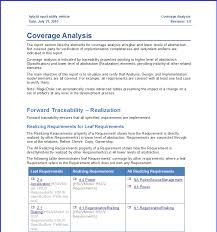 business analyst report template company analysis report template